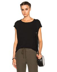 James Perse - Black Circular Shell Top - Lyst