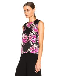 MSGM - Multicolor Floral Print Top - Lyst