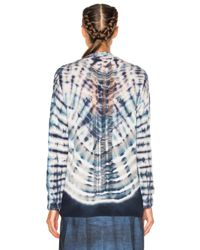 Raquel Allegra - Blue Shred Back Cardigan - Lyst
