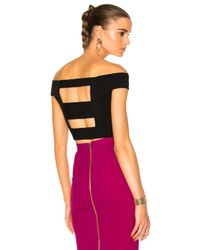 Roland Mouret | Black Nicolas Circular Ripped Knit Top | Lyst