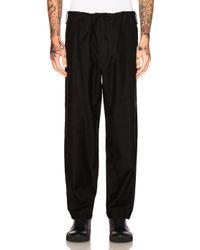 Yohji Yamamoto | Black Regular String Sleek Trousers | Lyst