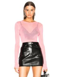 Helmut Lang - Pink Drop Needle Scoop Back Top - Lyst