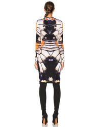 Givenchy - Multicolor Butterfly Print Long Sleeve Dress - Lyst