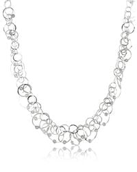 Orlando Orlandini - Metallic Scintille Anniversary - Diamond 18k White Gold Chain Necklace - Lyst