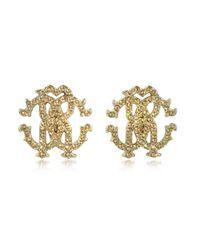 Roberto Cavalli - Metallic Rc Lux Crystals Stud Earrings - Lyst