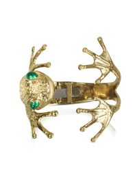 Bernard Delettrez | Metallic Frog Bronze Cuff Bracelet | Lyst