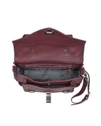 Proenza Schouler - Purple Ps1 Tiny Leather Satchel - Lyst