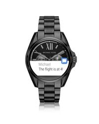 Michael Kors - Black Stainless Steel Bradshaw Women's Smartwatch - Lyst