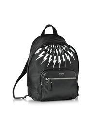 Neil Barrett - Black And White Nylon Classic Backpack for Men - Lyst