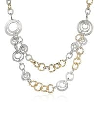 AZ Collection | Metallic Crystal Chain Opera Necklace | Lyst