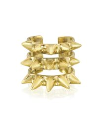 Bernard Delettrez | Metallic Triple Band Bronze Ring W/spikes | Lyst