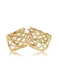 Bernard Delettrez - Metallic Gold Articulated Basket Weave Ring - Lyst