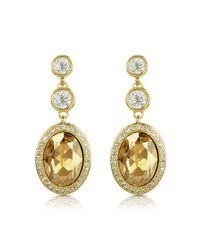 AZ Collection - Metallic Triple Drop Earrings - Lyst