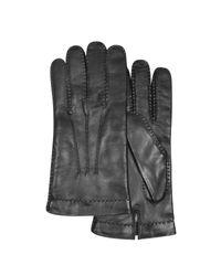 Forzieri - Black Schwarze Herrenhandschuhe aus italienischem Leder for Men - Lyst