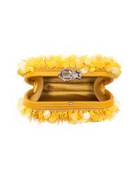 Corto Moltedo - Susan C Star Yellow Explosion Nappa Leather Pochette W/chain Strap - Lyst
