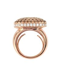 Azhar - Pink Cubic Zirconia Sterling Silver Square Cocktail Ring - Lyst