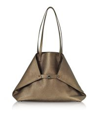Akris - Multicolor Copper Laminated Cervocalf Ai Medium Shoulder Bag - Lyst