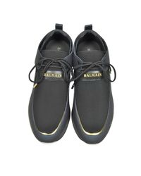 Balmain - Doda Navy Blue And Black Leather And Fabric Sneakers for Men - Lyst