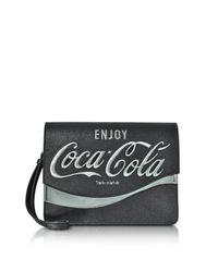 Pinko - Solitario Black Eco Leather Clutch - Lyst