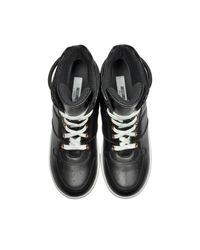 Moschino - Black Nappa Leather High Top Sneakers for Men - Lyst