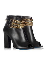 Loriblu - Black Leather Open Toe Ankle Boots - Lyst