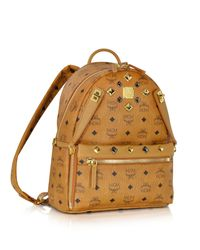 MCM - Multicolor Cognac Small Dual Stark Backpack - Lyst