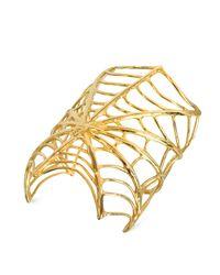 Bernard Delettrez | Metallic Giant Spiderweb Bronze Cuff Bracelet | Lyst