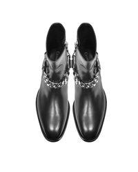 Cesare Paciotti - Black Baby Horse Boots W/chain - Lyst