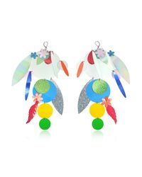 Christopher Kane | Oversize Disc Multicolor Earrings | Lyst