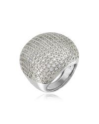 Azhar | Metallic Large Cubic Zirconia Sterling Silver Cocktail Ring | Lyst