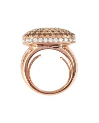 Azhar | Pink Cubic Zirconia Sterling Silver Square Cocktail Ring | Lyst