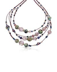 Antica Murrina | Purple Elizabeth 1 Murano Glass Necklace | Lyst