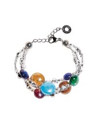 Antica Murrina | Blue Redentore 1 - Multicolor Murano Glass Drops & Silver Leaf Bracelet | Lyst