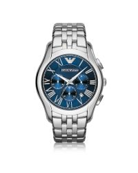 Emporio Armani | Metallic New Valente Silver Tone Stainless Steel Men's Watch for Men | Lyst