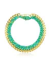 Aurelie Bidermann | Green Do Brasil Gold And Cotton Necklace | Lyst