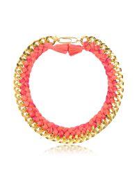Aurelie Bidermann | Multicolor Do Brasil Gold And Cotton Necklace | Lyst