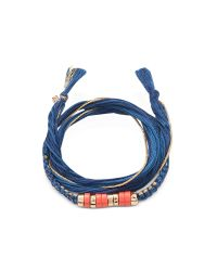 Aurelie Bidermann | Blue Takayama Coral Stones And Denim Brut Thread Bracelet | Lyst