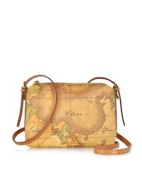 Alviero Martini 1A Classe | Brown 1a Prima Classe - Geo Printed Small ''contemporary'' Shoulder Bag | Lyst