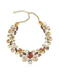 AZ Collection | Metallic Multicolor Crystal Necklace | Lyst