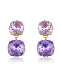 AZ Collection | Purple Clip-on Drop Earrings | Lyst