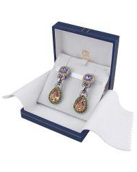 AZ Collection - Purple & Orange Clip-on Earrings - Lyst