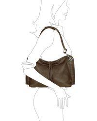 Buti - Charm Drop Dark Brown Pebble Italian Leather Hobo Bag - Lyst