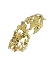 Bernard Delettrez | Metallic Goldtone Butterflies Articulated Bronze Ring | Lyst