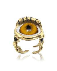 Bernard Delettrez Metallic Bronze Eye Ring