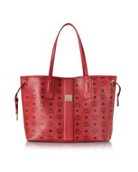 MCM | Ruby Red Shopper Project Visetos Liz Reversible Medium Tote | Lyst