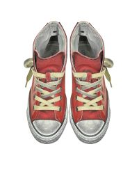 Converse - All Star Red Retro Canvas And Leather Unisex Ltd Sneaker for Men - Lyst