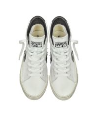 Converse | Pro Leather Vulc White And Black Mid Top Unisex Sneakers for Men | Lyst