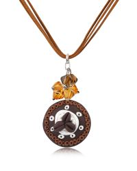 Dolci Gioie - Brown Chocolate Cake Pendant W/lace - Lyst