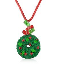 Dolci Gioie | Green Christmas Wreath Necklace | Lyst