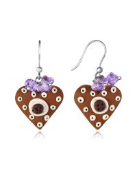 Dolci Gioie | Brown Heart Cake Earrings | Lyst